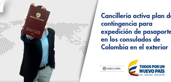 Cancillería activa plan de contingencia para expedición de pasaportes en los consulados de Colombia en el exterior