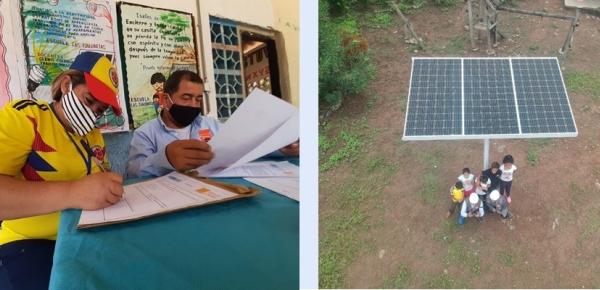 Plan Fronteras de la Dirección para el Desarrollo y la Integración Fronteriza de Cancillería instaló sistema solar fotovoltaico que beneficiará el centro educativo de Las Gallinetas
