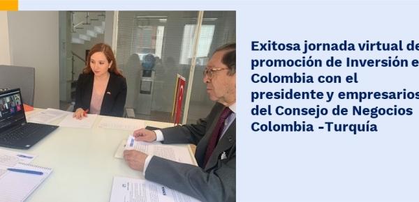 Exitosa jornada virtual de promoción de Inversión en Colombia con el presidente y empresarios del Consejo de Negocios Colombia