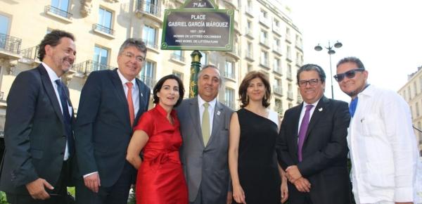 Plaza Gabriel García Márquez: homenaje al Nobel colombiano en París