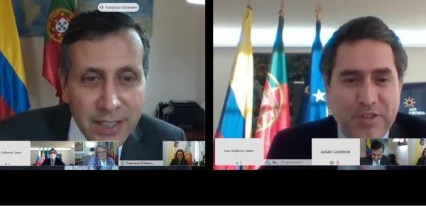 Viceministro de Relaciones Exteriores, Francisco Echeverri, participó en la reunión de consultas políticas con Portugal