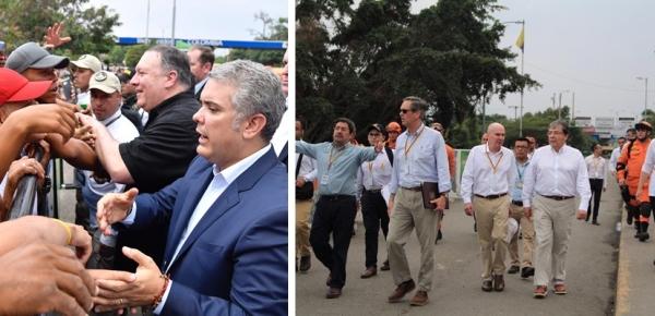 Presidente Iván Duque, Canciller Carlos Holmes Trujillo y Secretario de Estado de los EEUU recorrieron el Puente Internacional Simón Bolívar