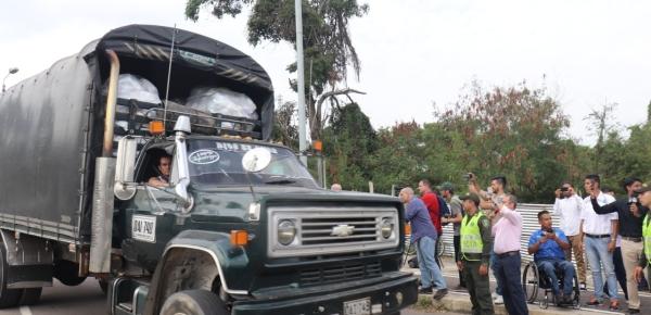 Ayudas humanitarias para Venezuela llegan a Cúcuta