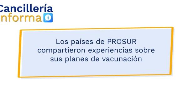 Los países de PROSUR compartieron experiencias sobre sus planes de vacunación