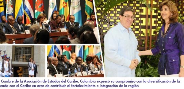 En Cumbre de la Asociación de Estados del Caribe, Colombia expresó su compromiso con la diversificación de la agenda con el Caribe en aras de contribuir al fortalecimiento e integración de la región