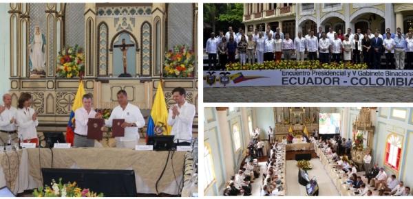 Resumen de la participación de la Canciller María Ángela Holguín en el V Gabinete Binacional Ecuador - Colombia