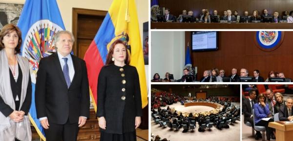 Resumen de la participación de la Canciller Holguín en la sesión Extraordinaria del Consejo Permanente de la OEA en abril de 2018