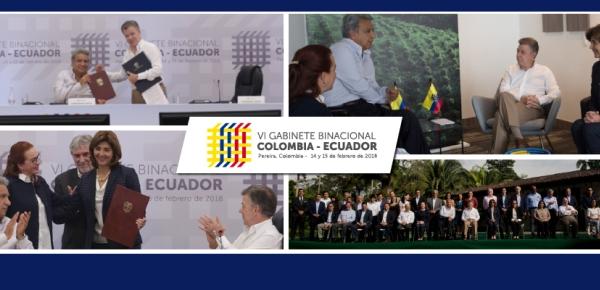 Resumen del VI Gabinete Binacional Colombia - Ecuador de 2018