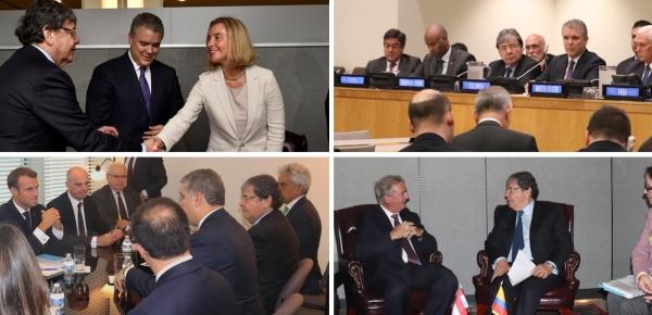 Con varias reuniones bilaterales concluyó segundo día para el Presidente Duque y el Canciller Trujillo en el 73 Período Ordinario de Sesiones de la Asamblea General de la ONU