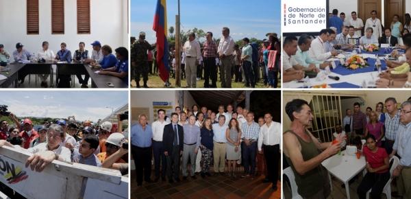 Canciller Carlos Holmes Trujillo finalizó en Norte de Santander su gira por la zona de frontera para conocer el impacto generado por la migración de venezolanos
