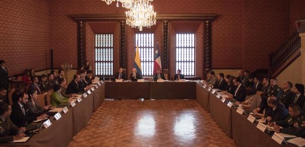 Colombia y Chile fortalecen su cooperación en la lucha contra la delincuencia organizada transnacional y el terrorismo durante la IV Reunión de Autoridades del Plan de Acción en esta materia