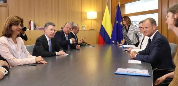 Colombia y la UE buscan trabajar juntos en cooperación y paz
