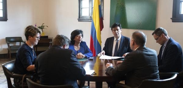 Viceministra de Relaciones Exteriores y el Ministro Adjunto de Relaciones Exteriores de Alemania dialogaron sobre temas de la agenda bilateral y de interés común