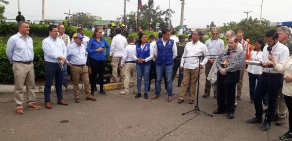 Gerente de Frontera entregó balance de actividades del Gobierno Nacional para atender necesidades de colombianos y venezolanos en Cúcuta, durante visita de congresistas de los EE.UU.