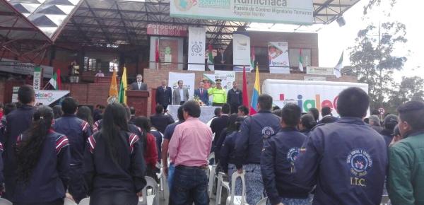 Cancillería participó en la Segunda Feria Binacional Colombia-Ecuador contra la Trata de personas, realizada en el puente internacional de Rumichaca
