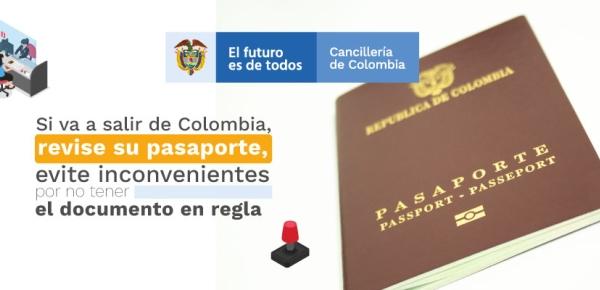 Si va a salir de Colombia, revise su pasaporte