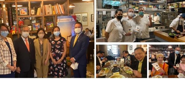 La Embajada de Colombia y Procolombia celebraron el Día Nacional con un festival de la comida colombiana en Singapur