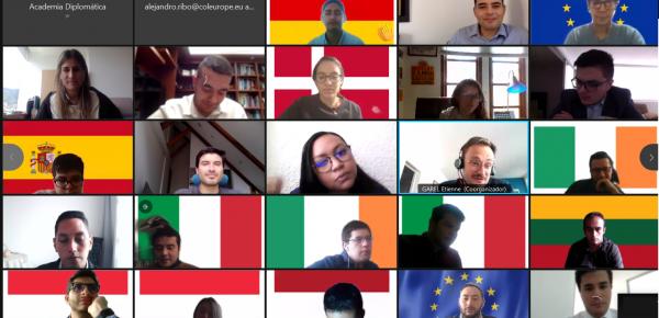 Estudiantes del curso de capacitación diplomática y consular participaron en programa de formación de Unión Europea