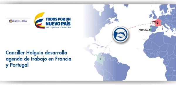 La Canciller Holguín desarrolla agenda de trabajo en Francia y Portugal