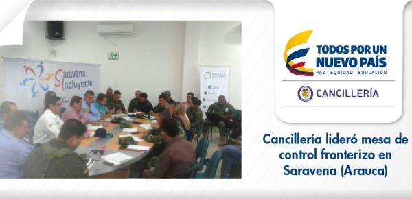Cancillería lideró mesa de control fronterizo en Saravena (Arauca)