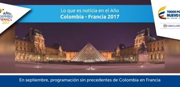 En septiembre, programación sin precedentes de Colombia en Francia