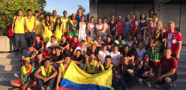 Regresan a Colombia los 20 jóvenes de Nariño que durante dos semanas participaron en intercambio deportivo en Suiza