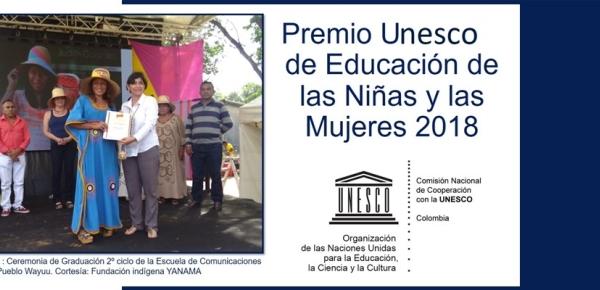Ya se encuentra abierta la convocatoria al Premio Unesco de Educación de las Niñas y las Mujeres 2018