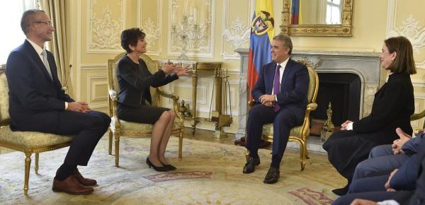 La nueva Embajadora de Suiza en Colombia presentó cartas credenciales ante el Presidente Iván Duque