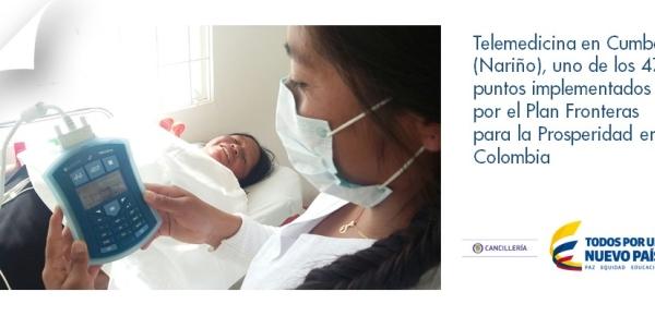 Telemedicina en Cumbal (Nariño), uno de los 47 puntos implementados por el Plan Fronteras para la Prosperidad en Colombia