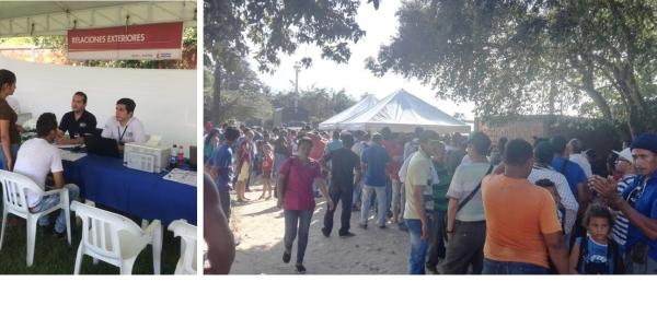 Cancillería participó en la Feria Nacional de Servicios para el Ciudadano en Tibú, Norte de Santander, que recibió a más de 3.000 personas