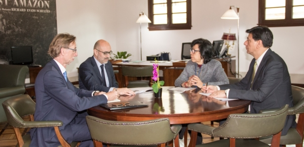 La Vicecanciller Luz Stella Jara y el Director General Adjunto para América Latina de la Unión Europea, Hugo Sobral, dialogaron sobre la crisis en Venezuela y temas de la agenda bilateral