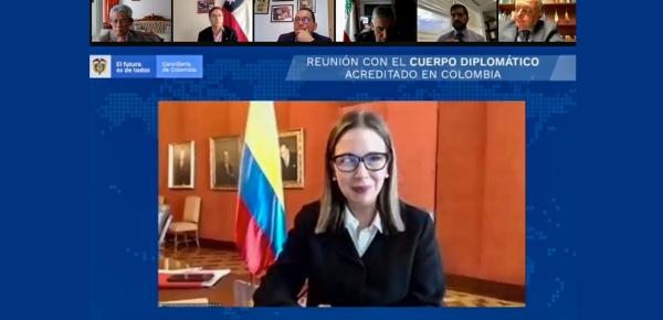 Viceministra Adriana Mejía lideró la segunda reunión con el cuerpo diplomático acreditado en Colombia
