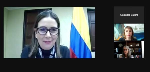 Viceministra de Asuntos Multilaterales, Adriana Mejía, presenta los avances de Colombia en la implementación de los Principios Voluntarios sobre Seguridad y Derechos Humanos