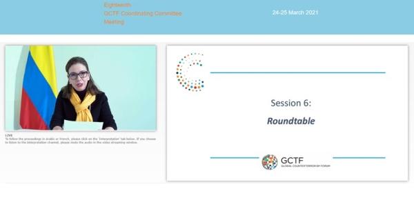 Viceministra Adriana Mejía participó en la XVIII Reunión del Comité Coordinador del Foro Global