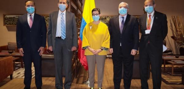 Viceministro de Relaciones Exteriores, Francisco Javier Echeverri, recibió a la Ministra de Asuntos Exteriores, Unión Europea y Cooperación de España