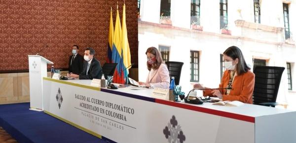 Vicepresidenta se reunió con el cuerpo diplomático acreditado en Colombia Hizo un llamado