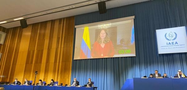 Vicepresidente y Canciller Martha Lucía Ramírez ratificó en la OIEA el compromiso de Colombia para impulsar los principios comunes de desarme