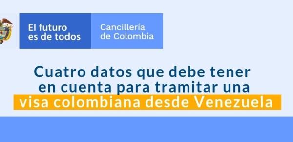 Cuatro datos que debe tener en cuenta para tramitar una visa colombiana desde Venezuela
