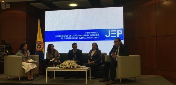 Cancillería participó en el foro virtual 'Los derechos de las víctimas en el exterior en el marco de la Justicia para la Paz'