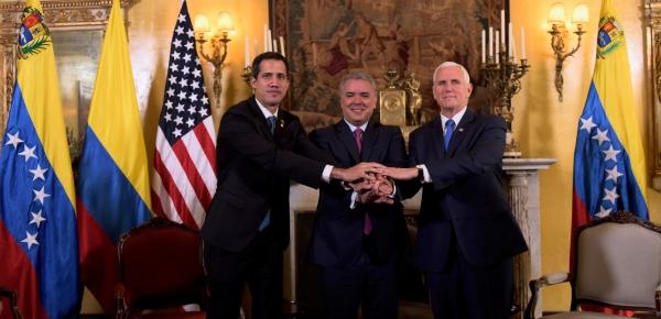 Presidente de Colombia, Vicepresidente de Estados Unidos y Mandatario interino de Venezuela sellaron su compromiso de seguir trabajando para restablecer la democracia y la libertad en el hermano país