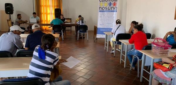 Dirección de Asuntos Migratorios, Consulares y Servicio al Ciudadano de la Cancillería recorre municipios de Bolívar prestando orientación a colombianos retornados
