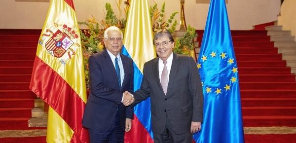 Canciller Holmes Trujillo acompañó al Presidente Iván Duque en encuentro con Ministro de Asuntos Exteriores de España, Josep Borrell