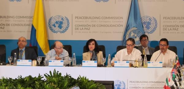 Canciller Claudia Blum instaló la Comisión de Consolidación de la Paz de la ONU en Cartagena