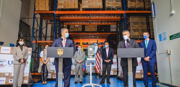 Con donación de 200 ventiladores, Estados Unidos reafirma su compromiso con Colombia en la respuesta frente al Covid-19
