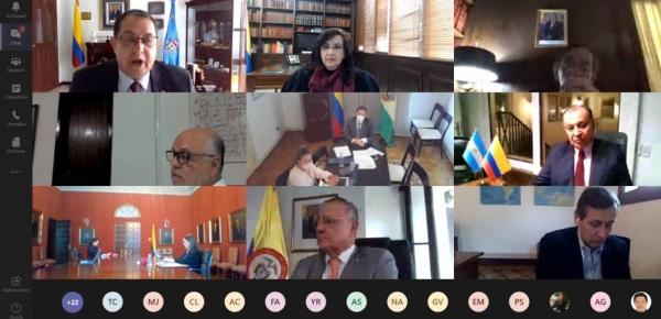 Canciller Claudia Blum se reunió con Embajadores de Colombia en el continente americano para abordar temas de los pilares del Gobierno