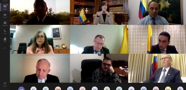 Canciller Claudia Blum revisó con embajadores de Colombia en Asia los temas estratégicos de las agendas bilaterales con países