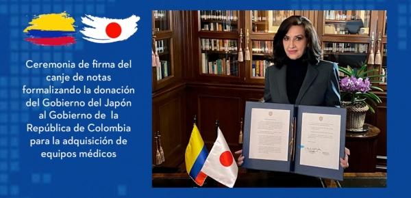 Japón apoya al Gobierno de Colombia en la lucha contra el COVID-19