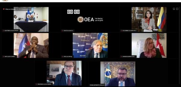 Inició agenda de la Canciller Claudia Blum previa a la Asamblea General de OEA