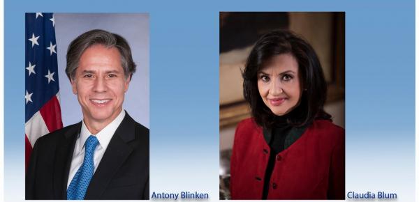Canciller Claudia Blum conversó con el Secretario de Estado de Estados Unidos
