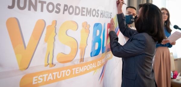 La Canciller Claudia Blum acompañó al Presidente Iván Duque en la firma del Estatuto Temporal de Protección para Migrantes